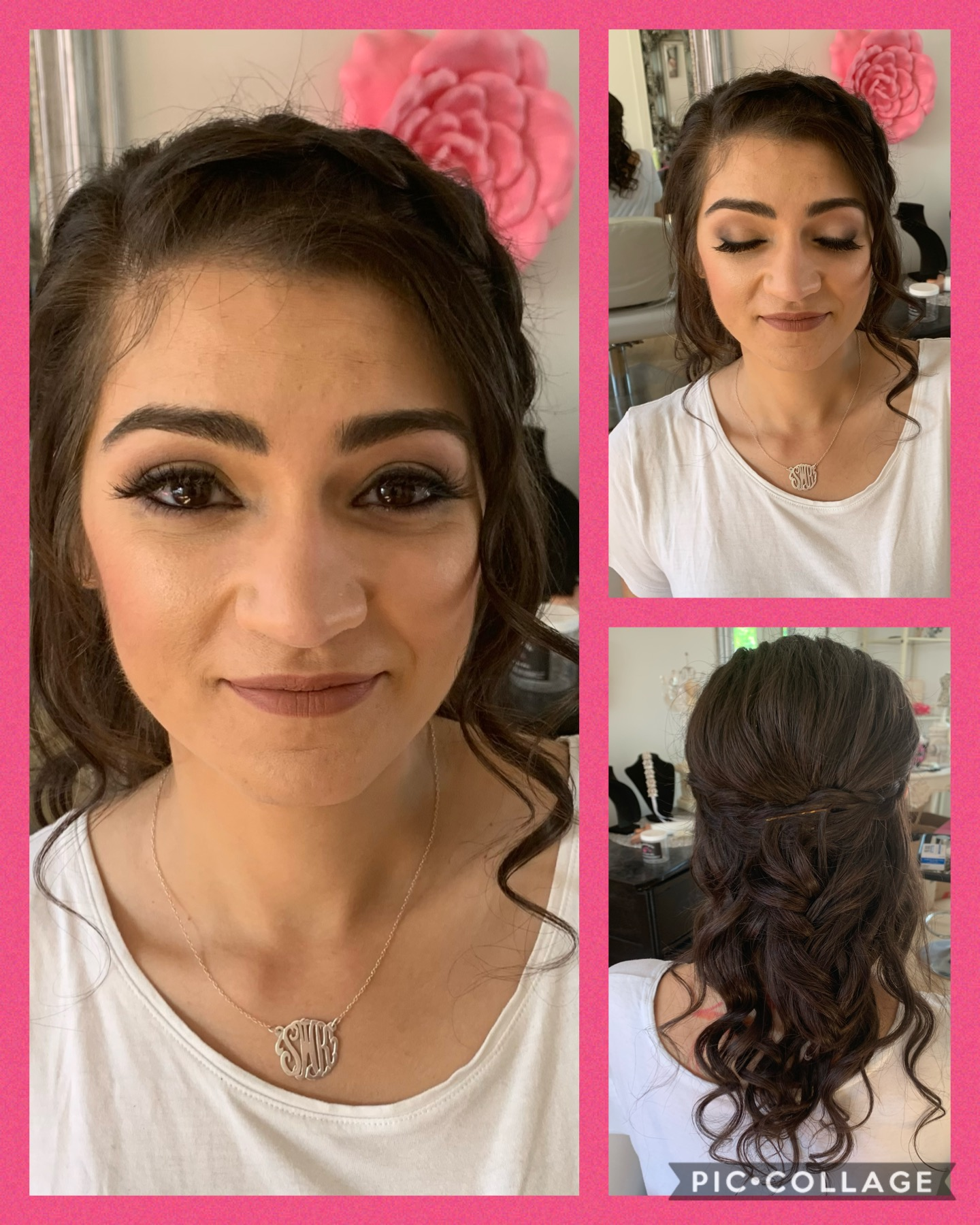 wedding hair and makeup trial